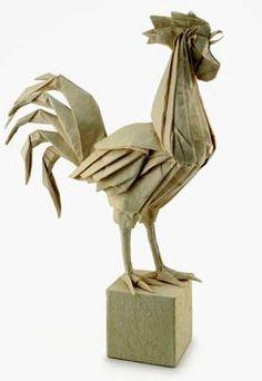Coq en origami #coq #papier #paperart