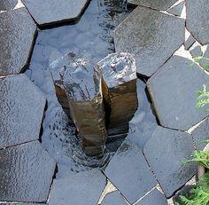 Hardscape :: Hexagon Basalt Pavers - Cascade Stoneworks   Basalt Columns, Fountains & Tiles