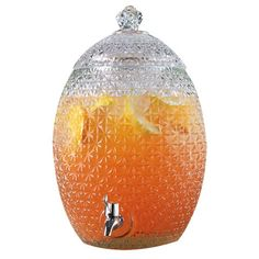 Glass beverage dispenser with pineapple silhouette  Product: Beverage dispenserConstruction Material: Glass, met...