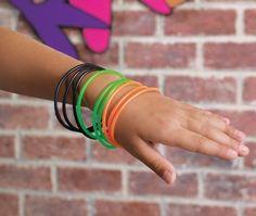 Rubber bracelets 80s style