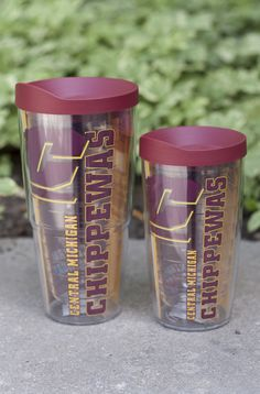 Tumbler - 24 Or 16 Oz Flying C Central Michigan Tervis With Maroon Lid