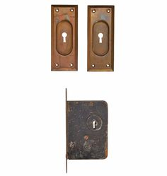 Pocket Door Pulls w/ Mortise Lock by Russell & Erwin