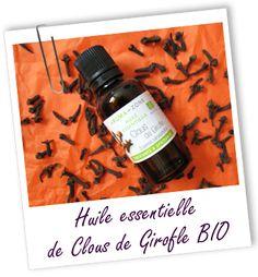 Huile essentielle Girofle Clous BIO Aroma-Zone http://lumierespournosdefunts.blogspot.fr/