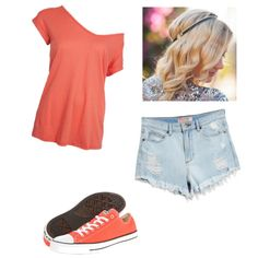 A fashion look from March 2015 featuring GUESS shorts, Converse sneakers and Dauphines of New York hair accessories. Browse and shop related looks.
