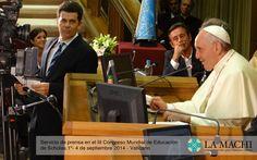 Papa Francisco en la presentación de Cholas.Social en el III Congreso Mundial de Educación de Scholas