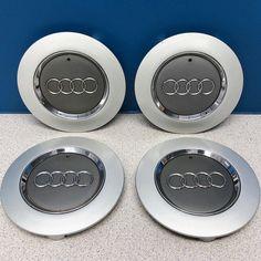 03 04 Audi A6 # 58764 17x7 1/2 5 Spoke Wheel Center Caps