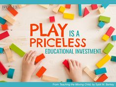 """Play is more than just fun. It's a """"priceless educational investment"""" for our young learners. Word Of Mouth, Prayer Warrior, Power Of Prayer, Praise God, Early Childhood, In This World, Autism, Investing, Journey"""