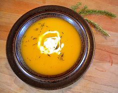 Butternut Squash, Onion, and Garlic Soup.