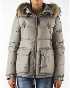 PARAJUMPERS New Alaska Women Sand High Fill Power Down Jacket