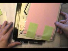 card making video: Stampin' Up! Edgelits: Tips for a Perfect Cut Everytime! ... Dawn shows a lot of useful tips here ...