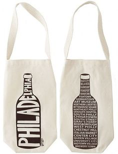 Perfectly fits a bottle of wine to create a unique gift. Arrive at your next dinner or housewarming party in style and repping Philadelphia, Pennsylvania with our single wine tote. South Philly, Wine Tote, Welcome Bags, Bottle Bag, Personalized Wine, Hostess Gifts, Wine Tasting, White Wine, Reusable Tote Bags