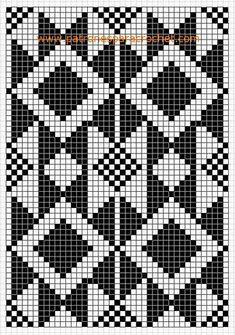 Billedresultat for tapestry crochet patrones Tapestry Crochet Patterns, Fair Isle Knitting Patterns, Crochet Motifs, Knitting Charts, Weaving Patterns, Crochet Chart, Mosaic Patterns, Cross Stitch Pillow, Cross Stitch Embroidery