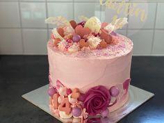 Birthday Cake, Cakes, Desserts, Pink, Food, Tailgate Desserts, Deserts, Cake Makers, Birthday Cakes