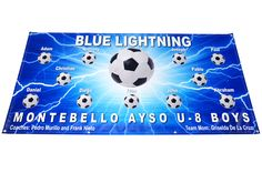 6 ft x 3 ft Soccer banner idea.