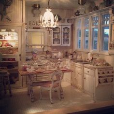 most beautiful miniature dollhouse exteriors | Most beautiful mini kitchen ever! by Kim's Miniatures