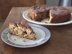 winter plum cake with cinnamon plum icing