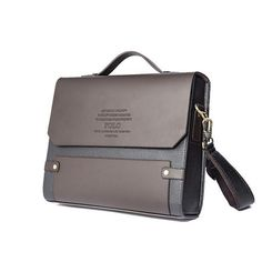Polo Mens Genuine Leather Secure Briefcase Shoulder Messenger Bags brown Business Laptop Bag ** Check this awesome product by going to the link at the image. Vintage Leather Messenger Bag, Leather Laptop Bag, Messenger Bag Men, Leather Briefcase, Laptop Bags, Laptop Shoulder Bag, Leather Shoulder Bag, Handbags For Men, Leather Handbags