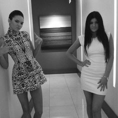 Kylie and Kendall Jenner.