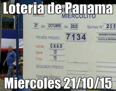 Loteria de Panama miercoles 21-10-15. Ver resultados: http://wwwelcafedeoscar.blogspot.com/2015/10/resultados-loteria-de-panama-miercoles.html