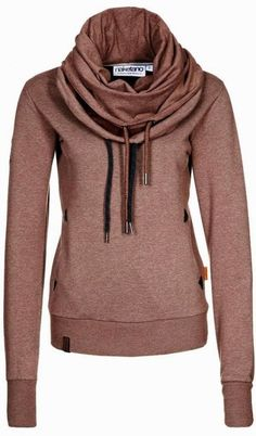 Comfy Naketano Hoodie This cute hoodie features a gorgeous scarf like style that looks so stunning, with front pockets, full length sleeves and nice color it look absolutely gorgeous for Fall/Winter.