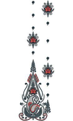 Bead Embroidery Tutorial, Embroidery Flowers Pattern, Machine Embroidery Patterns, Hand Embroidery Designs, Beaded Embroidery, Flower Patterns, Anarkali, Lehenga, Sarees