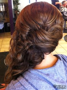 fishtail braid to the side~ I wish I had thick long hair like to do this