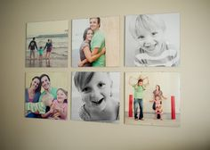 Love these clip frames for photo wall at tarawhitney.com