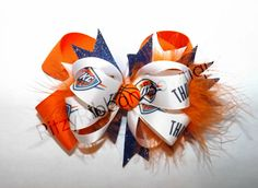 OKC Thunder Basketball Boutique hairbow by RitzyRibbonBowtique
