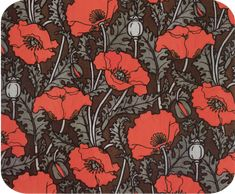 William Morris Red Poppy Mouse Pad/Hot Pads