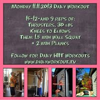 Daily Workout TV: Monday 11.11.2013 Workout