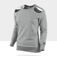 Need.  Featherweight Cutout: For extra warmth and a dash of sexiness, throw on this  Nike Cutout Top  ($90). It eases on like a pullover without the boxy-shoulder effect. Wear it to the studio, wear it to bed, or wear it anywhere.