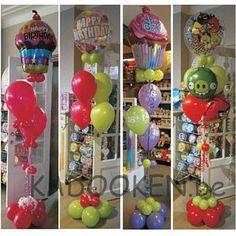Ballonboeketten, ballon geschenk, heliumballonnen, ballondecoratie  www.kadooken.be