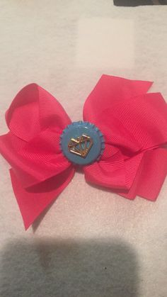 Bottle cap junk bow (All bows and headbands are custom made and inspired by my daughters)