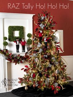 RAZ Tally Ho Ho Ho Christmas Tree http://www.trendytree.com
