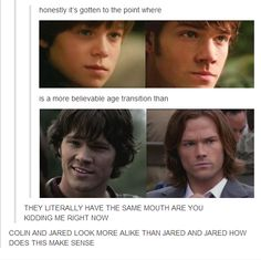 Colin as younger Sam to young Jared as older Sam is a more believable transition than young Jared to older Jared as Sam!