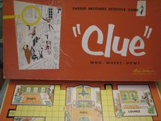 vintage board games - Clue I need to find one of these at the thrift shop!