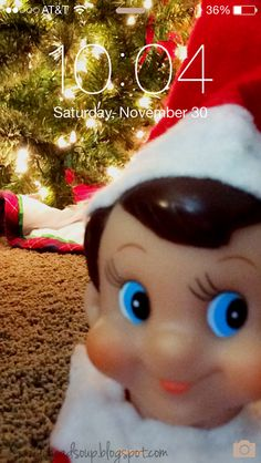 Elf on the Shelf....Everyone will be surprised this morning when they get up.  I changed everyone's home screen to look like this photo...December 2013