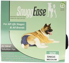 Integrated Pet Solutions SnuggEase Washable Dog Diaper Medium >>> You can find out more details at the link of the image.Note:It is affiliate link to Amazon.