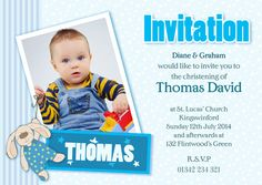 Personalised Christening Invites, perfect for your little ones special day. Complete with envelopes with all your details, making inviting guests easy.
