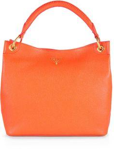 prada handbag orange