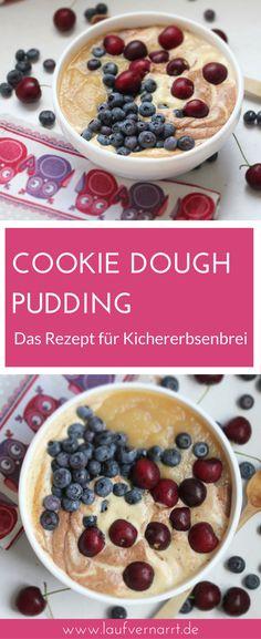 Cookie Dough Pudding - Das Rezept für süßen Kichererbsenbrei. Vegan & glutenfrei, voller Nährstoffe, gesund und lecker.