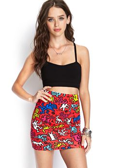 Keith Haring Miniskirt | FOREVER21 #TagF21 #SummerForever