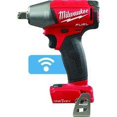 Milwaukee Fuel ONE-KEY Lithium-Ion Brushless Cordless in. Impact Wrench w/ Friction Ring (Tool-Only) Cordless Hammer Drill, Cordless Tools, Milwaukee Tools, Milwaukee M18, Driver Tool, Drill Driver, Torque Wrench, Electronic Recycling, Impact Wrench