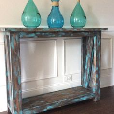 Custom Entry Way Hallway Sofa Table solid wood pine Decor, Rustic Chic, Table, Sofa Table, Solid Wood, Custom Table, Chevron Coffee Tables, Coffee Table, Entryway