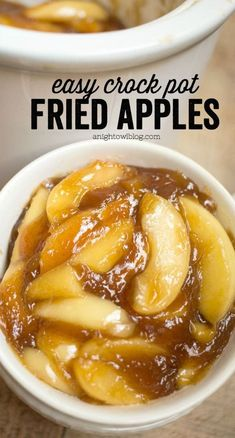 Easy Crock Pot Fried Apples These Easy Crock Pot Fried Apples are a perfect, effortless Thanksgiving side dish or an everyday treat! You'll love how easy they are to whip up! - 45 Thanksgiving Side Dish Recipes To Wow The Family Crock Pot Recipes, Crock Pot Desserts, Crock Pot Cooking, Fruit Recipes, Apple Recipes, Slow Cooker Recipes, Holiday Recipes, Cooking Recipes, Slow Cooker Apples