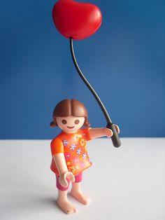 PLAYMOBIL ENFANT 1900 BALLON JARDIN ZOO PARK GIRL CHILD BALLOON TOY