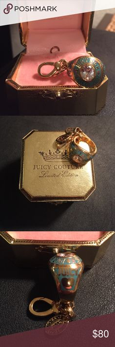 Juicy Couture Limited Edition Charm 2007 Teal Ring Charm! Never been used, always in the box! Juicy Couture Jewelry