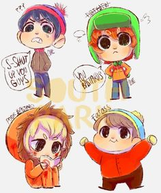 South park Chibi's They're so adorable XDD