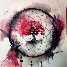 """Résultat de recherche d'images pour """"watercolor tattoo dreamcatcher"""""""