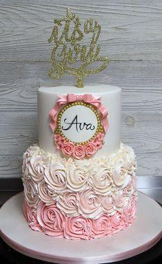 16th Birthday Cake For Girls, Baby Girl Birthday Cake, Pink Birthday Cakes, Beautiful Birthday Cakes, Princess Theme Cake, Cake Designs For Girl, Creative Cake Decorating, Baby Shower Princess, Girl Cakes